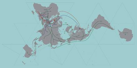 My Family Dymaxion Map