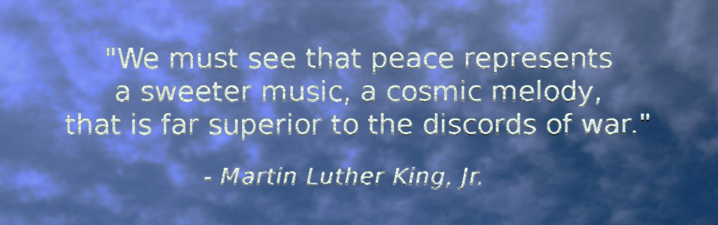 We must see that peace represents a sweeter music