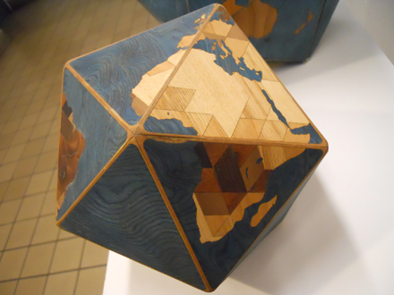 Dymaxion Woodocean World folded together