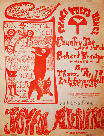 SF poster - April 15, 1967 Peace Poets Dance