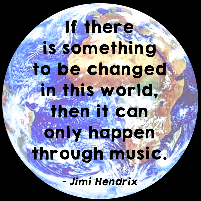 Jimi Hendrix change music quote