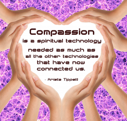 Compassion quote heart hands